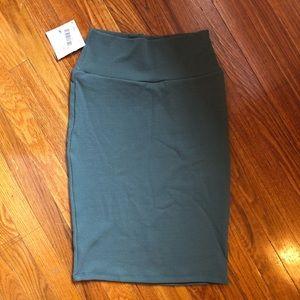 LulaRoe XS Cassie Green Skirt
